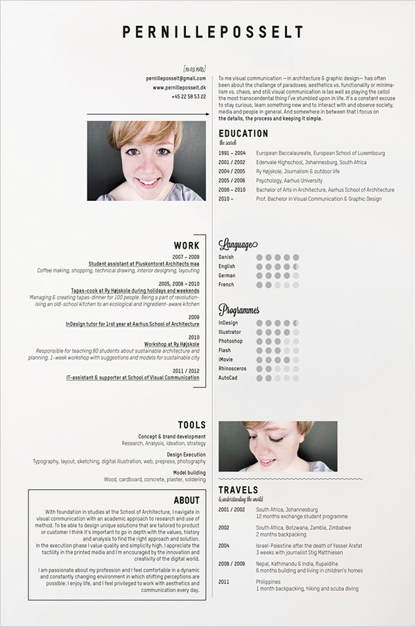 10 interesting  u0026 simple resume examples you would love to