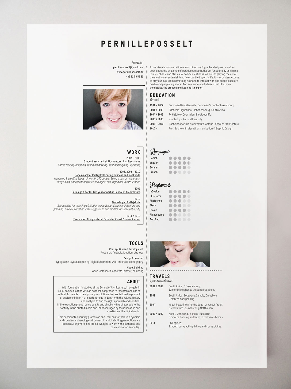 resume insperation on pinterest