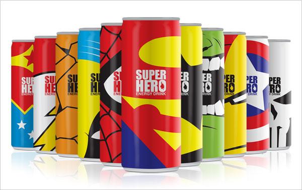 Super-Heroes-Energy-Drink-Tin-Packaging