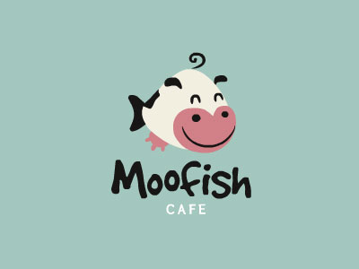 moo-fish-cafe-logo-design