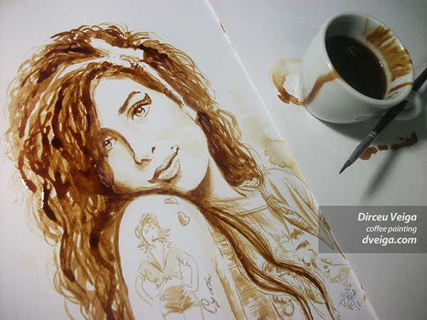 beautiful paintings made with coffee artist dirceu veiga