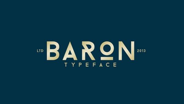 BARON-Free-Sans-Serif-Type-Family