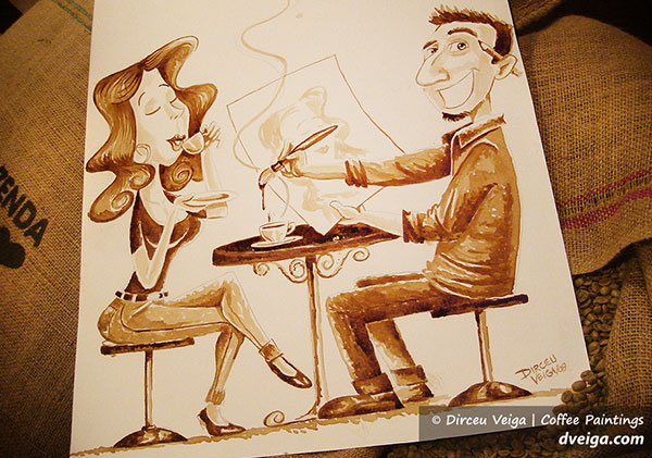 COFFEE-PAINTING-SELF-CARICATURE