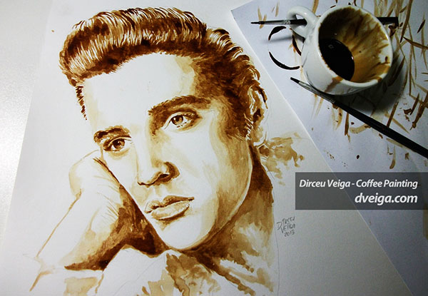 ELVIS-PRESLEY-painting-with-coffee-art