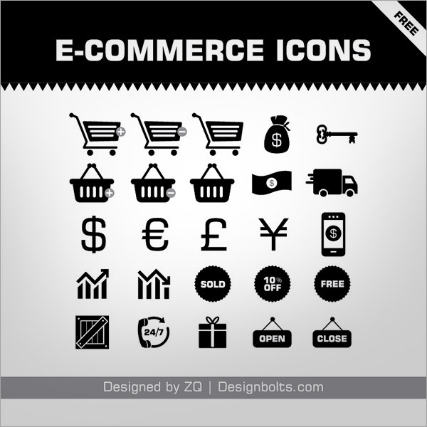 Free-E-commerce-Icons-Set