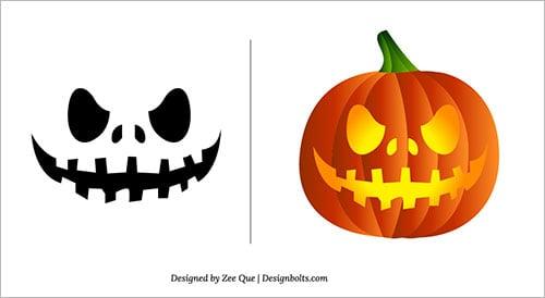 Halloween 2013 free scary pumpkin carving patterns ideas stencils