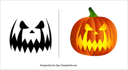 free scary pumpkin stencils - Free Scary Halloween Pumpkin Carving Patterns