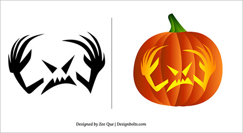 Free-Scary-Pumpkin-Carving Patterns-Ideas-Scary-Pumpkin-Carving-Stencils- (2)