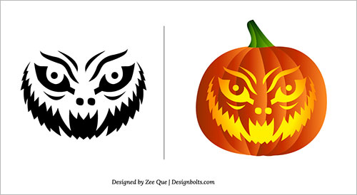 Free-Scary-Pumpkin-Carving Patterns-Ideas-Scary-Pumpkin-Carving-Stencils- (3)