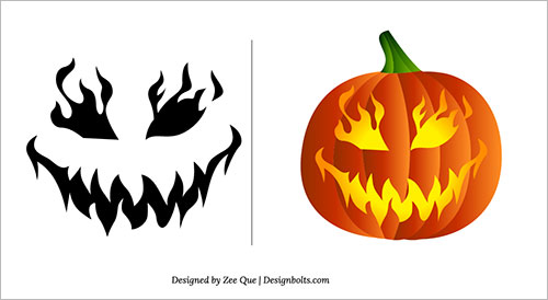 free scary pumpkin carving patterns - Free Scary Halloween Pumpkin Carving Patterns