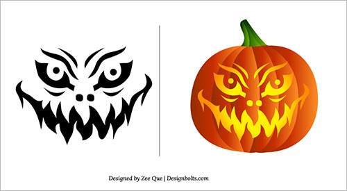 Free-Scary-Pumpkin-Carving Patterns-Ideas-Scary-Pumpkin-Carving-Stencils- (6)