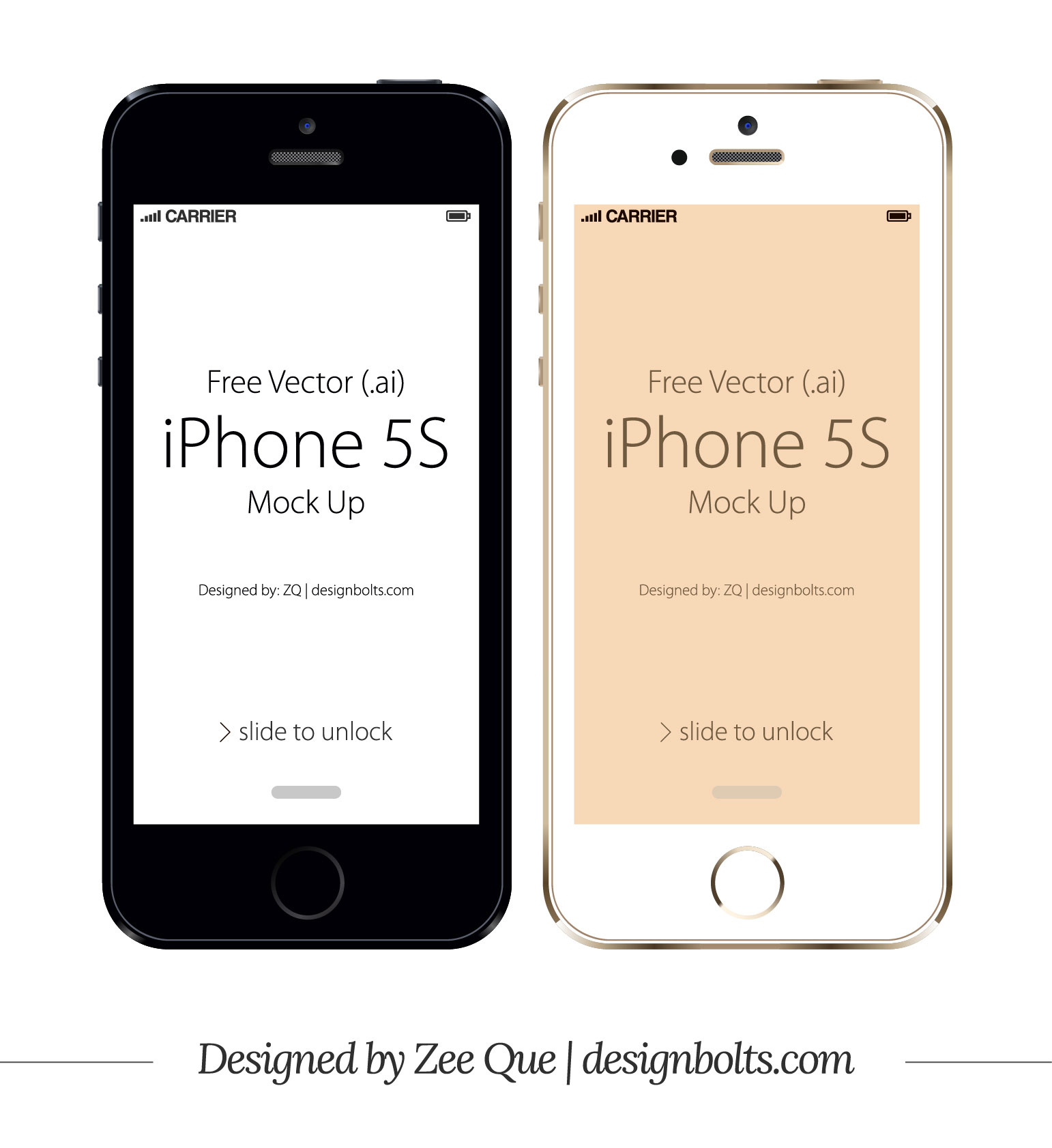 Free Vector Apple IPhone 5S In Ai Eps Format