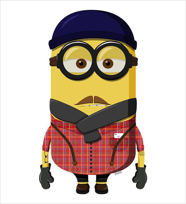 Hipster-Minion