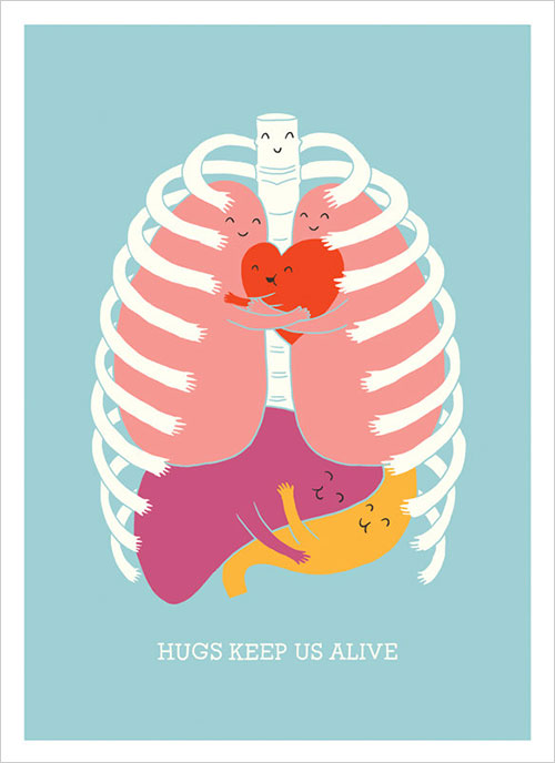 Hugs-Inspiring-Poster-Design-ilovedoodle