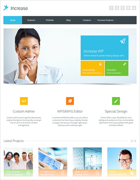 Increase-simple-premium-business-wordpress-theme-2013