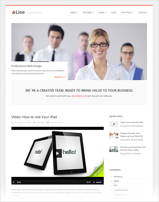 Line-business-wp-theme-2013
