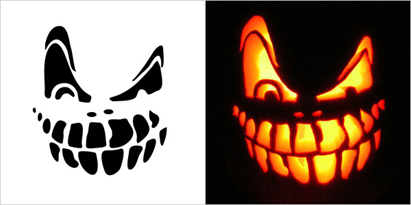 Scary Pumpkin Carving Stencils