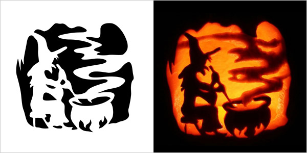 5 best halloween scary pumpkin carving stencils 2013 for Witch carving pattern for pumpkins