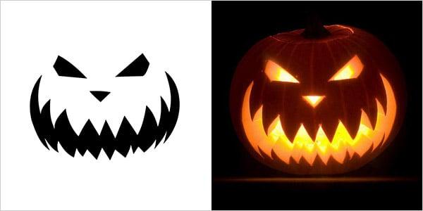 Best Halloween Scary Pumpkin Carving Stencils 2013