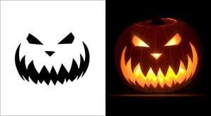5 Best Halloween Scary Pumpkin Carving Stencils 2013