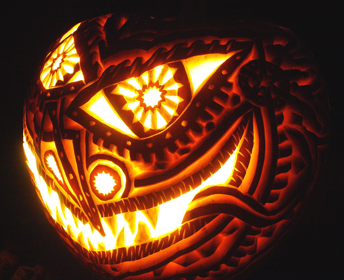 Creative Crazy Scary halloween pumpkin carving Ideas1