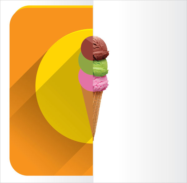Flat-Ice-cream-design