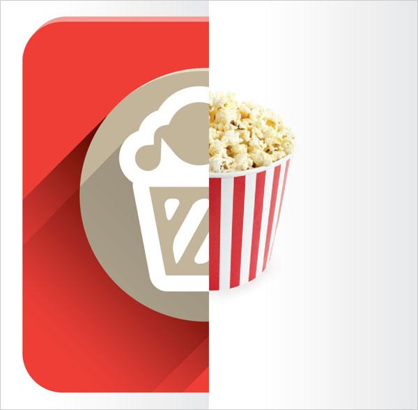 Flat-Popcorn-design