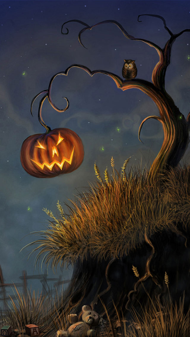 Halloween_Tree_iphone_5_Wallpaper