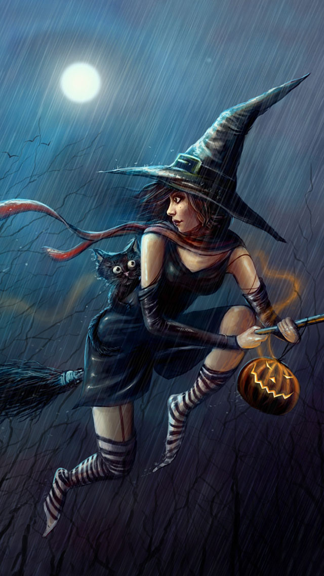Halloween_Witch_iPhone_5_Wallpaper