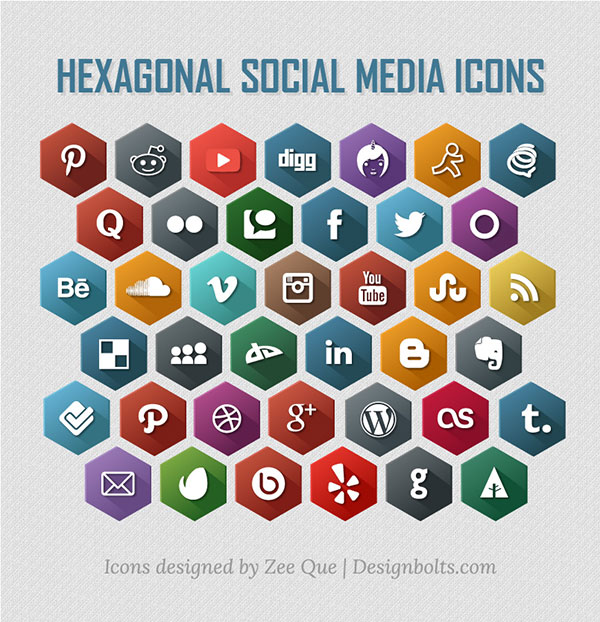 Hexagonal-Free-Social-Media-Icons-2014