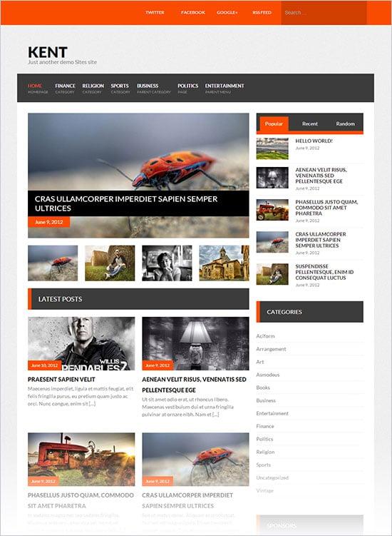 12 Best Free Blog Business Wordpress Themes For October November