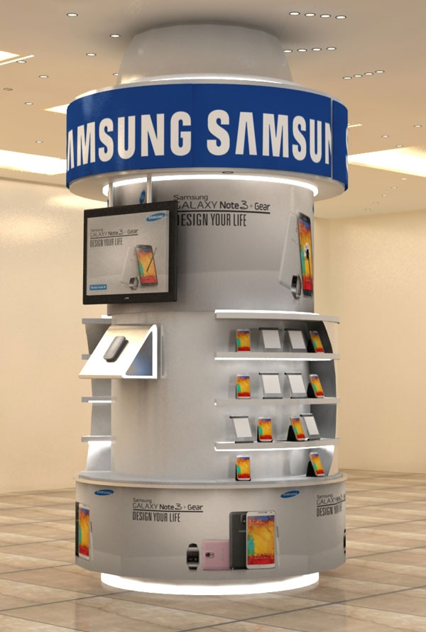 Samsung Exhibition Stand Design : Innovative d exhibition designs display stands