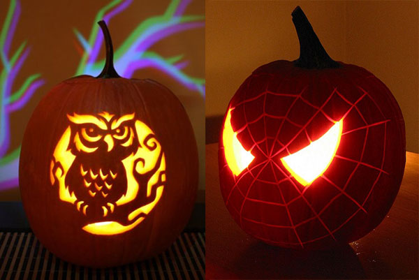 spider owl halloween pumpkin carving - Pumpkin Halloween Carving