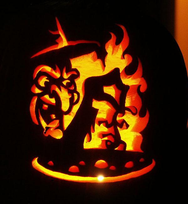 30 best cool, creative \u0026 scary halloween pumpkin carving ideas 2013halloween witch pumpkin carving
