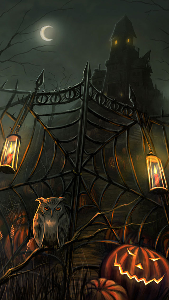 halloween_scary-horror-gate-iPhone-5-Wallpaper