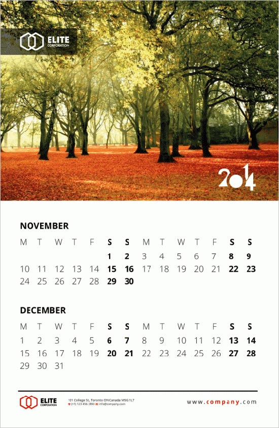 Calendar Design Material : New year wall desk calendar designs for inspiration