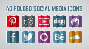 40-Free-Folded-Social-Media-Icons