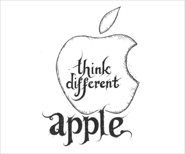 Apple-Logo-in-Black-Metal-typography