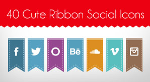 Free-Cute-Ribbon-Social-Media-Icons
