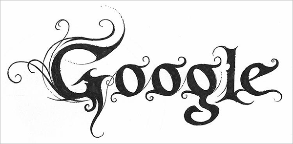 Google-Logo-in-Black-Metal-typography