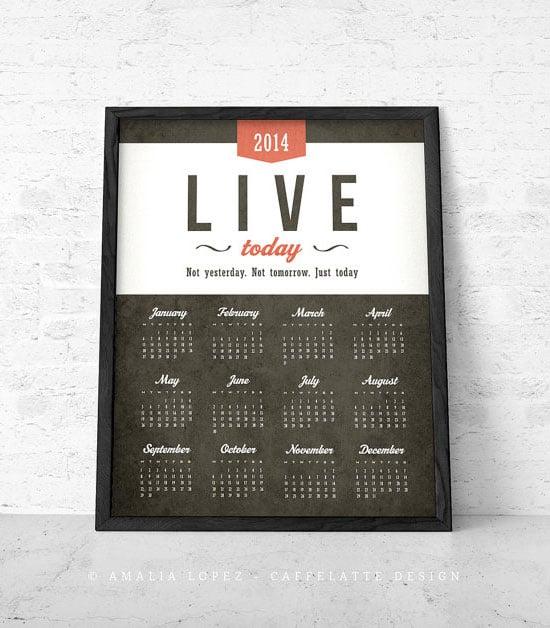 Printable-2014-Calendar-design