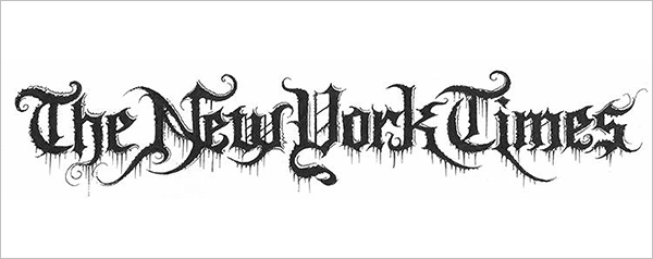 The-New-York-Times-Logo-in-Black-Metal-typography