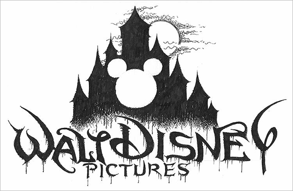 Walt-Disney-Logo-in-Black-Metal-typography