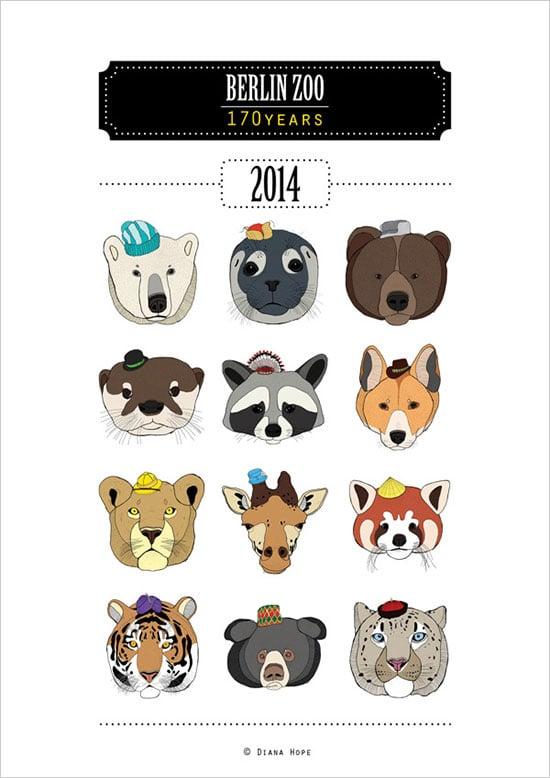 25 New Year 2014 Wall Amp Desk Calendar Designs For Inspiration