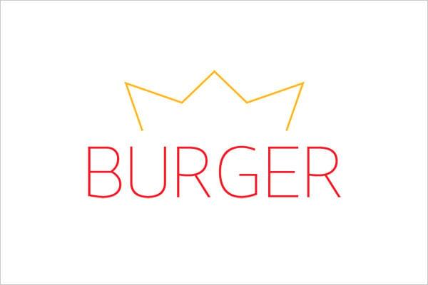logotipo de ultra minimalista burgerking Sleek Logo Design Experiment com marcas famosas