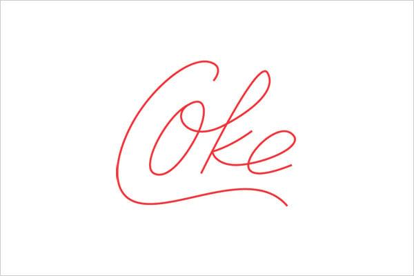 ultra-minimalista logotipo coque elegante Logo Design Experiment com marcas famosas