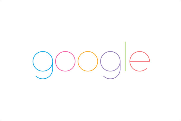 ultra-minimalista logotipo google Sleek Logo Design Experiment com marcas famosas