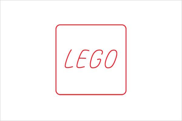 ultra-minimalista logotipo lego Sleek Logo Design Experiment com marcas famosas