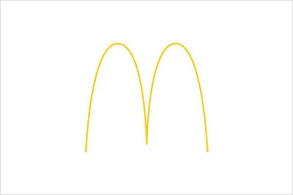 ultra-minimalista logotipo mcdonalds Sleek Logo Design Experiment com marcas famosas