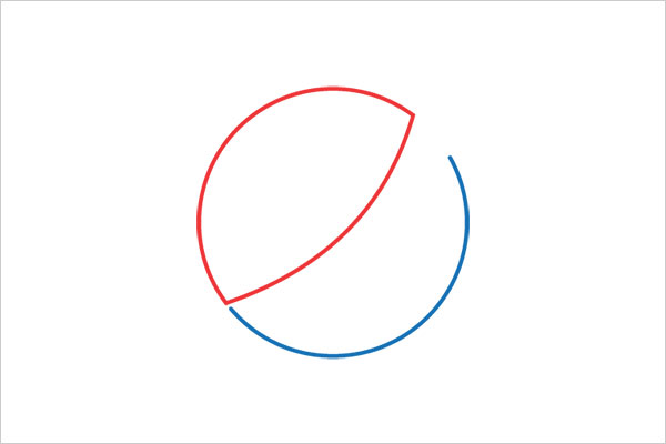 ultra-minimalista logotipo pepsi Sleek Logo Design Experiment com marcas famosas